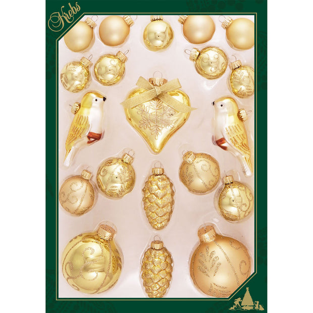 Golden Glow Multipack Figurine Ornaments, 20/Box, 6/Case, 120 Pieces