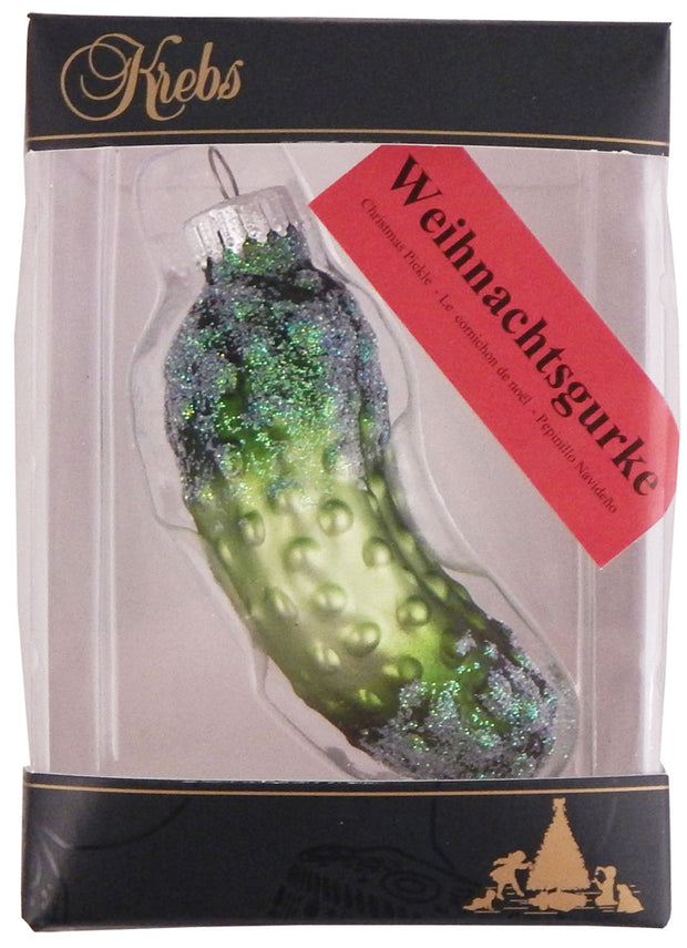 "3 1/2"" (89mm) Small Christmas Pickle Figurine Ornaments, 1/Box, 24/Case, 24 Pieces - Christmas by Krebs Wholesale"