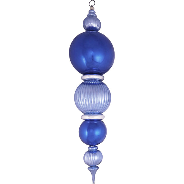 "38"" Giant Commercial Shatterproof Finials, Blue/Silver Multi, Case, 1 Pieces"