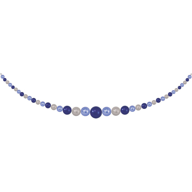 11.5' Giant Commercial Shatterproof Ball Garland, Blue/Silver, Case, 1 Piece