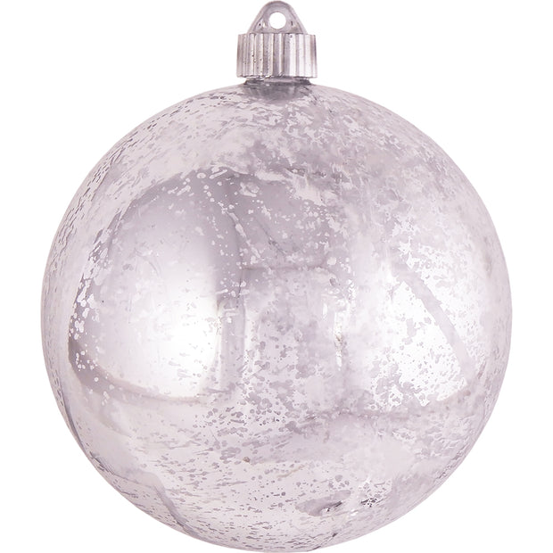 "6"" (150mm) Large Commercial Shatterproof Ball Ornaments, Silver Mercury Silver, 1/Box, 12/Case, 12 Pieces - Christmas by Krebs Wholesale"