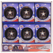 "3 1/4"" (80mm) Ball Ornaments, US Army, Ebony Velvet, 1/Box, 12/Case, 12 Pieces"