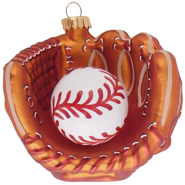 "4"" (100mm) Baseball Glove Figurine Ornaments, 1/Box, 6/Case, 6 Pieces"