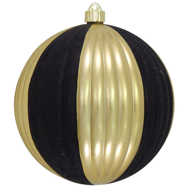 "8"" (200mm) Giant Commercial Shatterproof Ball Ornament, Gilded Gold, Case, 6 Pieces - Christmas by Krebs Wholesale"
