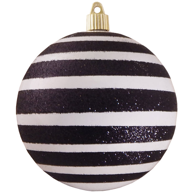 "4 3/4"" (120mm) Jumbo Commercial Shatterproof Ball Ornament, Milk White, Case, 24 Pieces - Christmas by Krebs Wholesale"