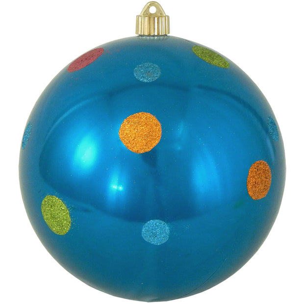 "8"" (200mm) Giant Commercial Shatterproof Ball Ornament, Balmy Seas, Case, 6 Pieces"
