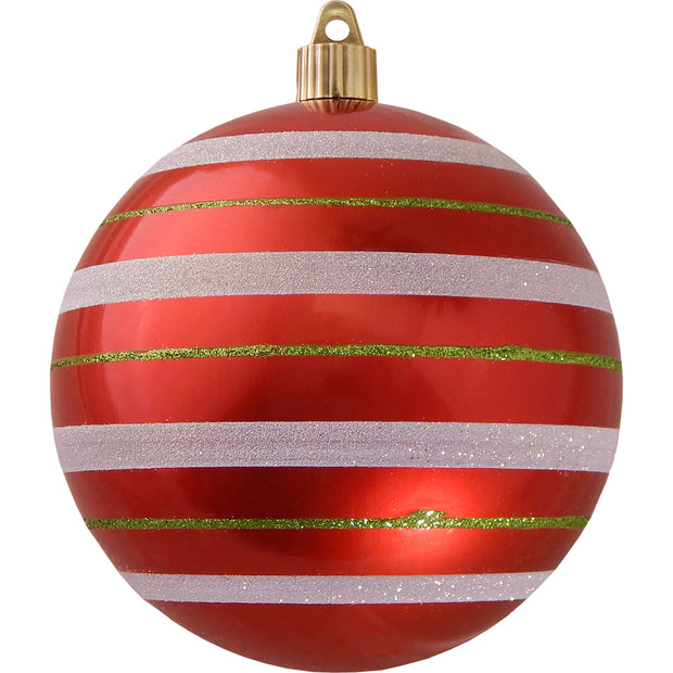 "4 3/4"" (120mm) Jumbo Commercial Shatterproof Ball Ornament, True Love, Case, 24 Pieces - Christmas by Krebs Wholesale"