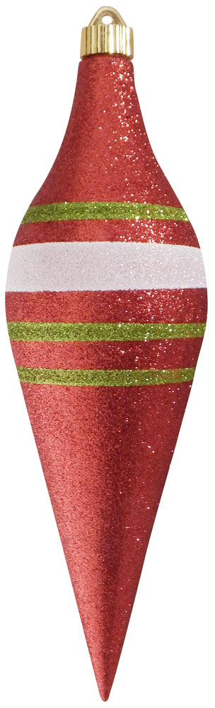 "12 2/3"" (320mm) Large Commercial Shatterproof Drop Ornaments, Case, 12 Pieces - Christmas by Krebs Wholesale"