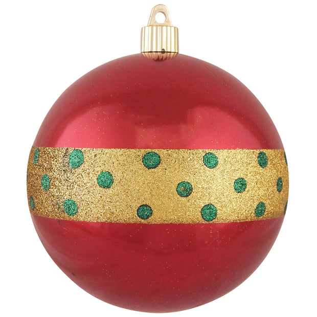 "4 3/4"" (120mm) Jumbo Commercial Shatterproof Ball Ornament, Sonic Red, Case, 24 Pieces"