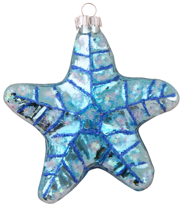 "3 1/2"" (89mm) Blue Starfish Figurine Ornaments, 1/Box, 6/Case, 6 Pieces - Christmas by Krebs Wholesale"