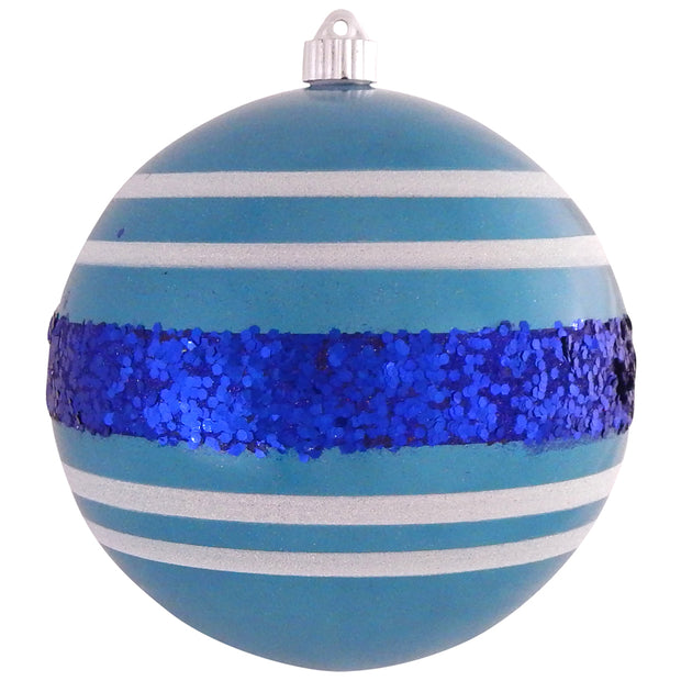 "8"" (200mm) Giant Commercial Shatterproof Ball Ornament, Lagoon, Case, 6 Pieces - Christmas by Krebs Wholesale"