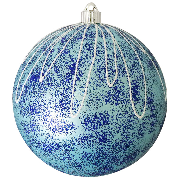"8"" (200mm) Giant Commercial Shatterproof Ball Ornament, Serenity Velvet, Case, 6 Pieces - Christmas by Krebs Wholesale"