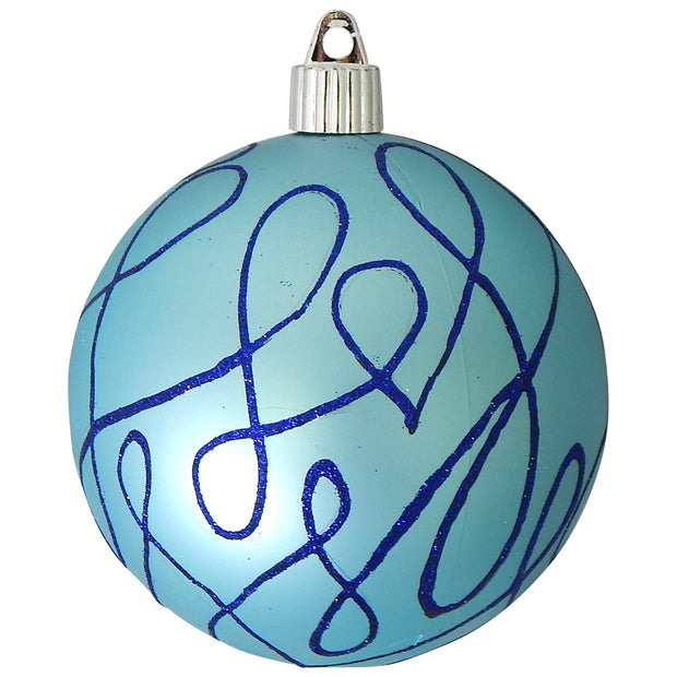 "4"" (100mm) Large Commercial Shatterproof Ball Ornament, Serenity Velvet, Case, 24 Pieces"