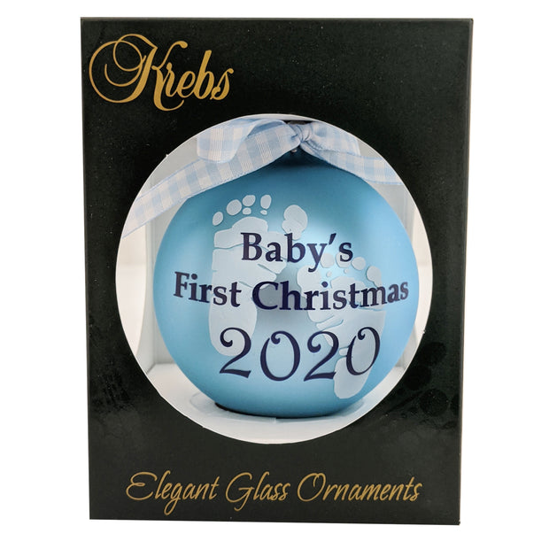 "3 1/4"" (80mm) Ball Ornaments Babys First Christmas Personalizable, Multi, 1/Box, 12/Case, 12 Pieces - Christmas by Krebs Wholesale"