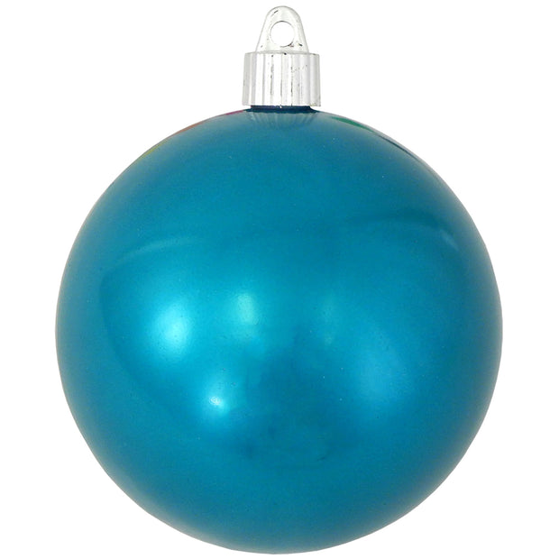 "4"" (100mm) Large Commercial Shatterproof Ball Ornament, Tropical Blue, Case, 48 Pieces"
