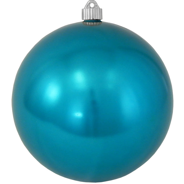 "8"" (200mm) Giant Commercial Shatterproof Ball Ornament, Tropical Blue, Case, 6 Pieces"