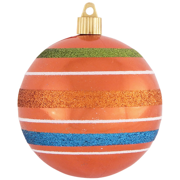 "4"" (100mm) Large Commercial Shatterproof Ball Ornament, Mandarin, Case, 24 Pieces"