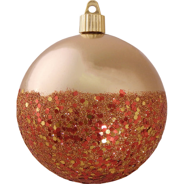 "4"" (100mm) Large Commercial Shatterproof Ball Ornament, Gilded Gold, Case, 24 Pieces - Christmas by Krebs Wholesale"