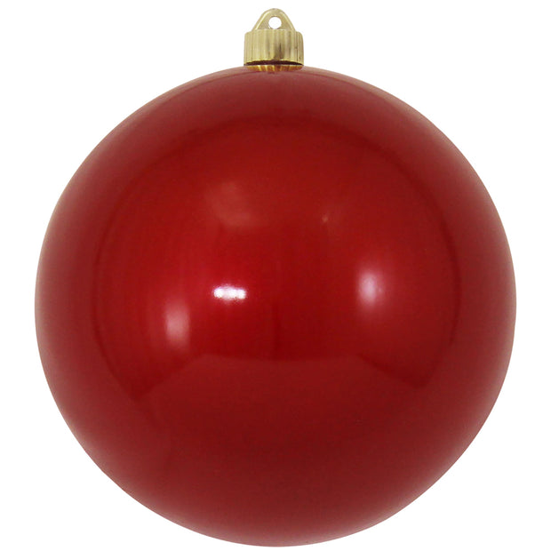 "8"" (200mm) Giant Commercial Shatterproof Ball Ornament, Candy Red, Case, 6 Pieces"