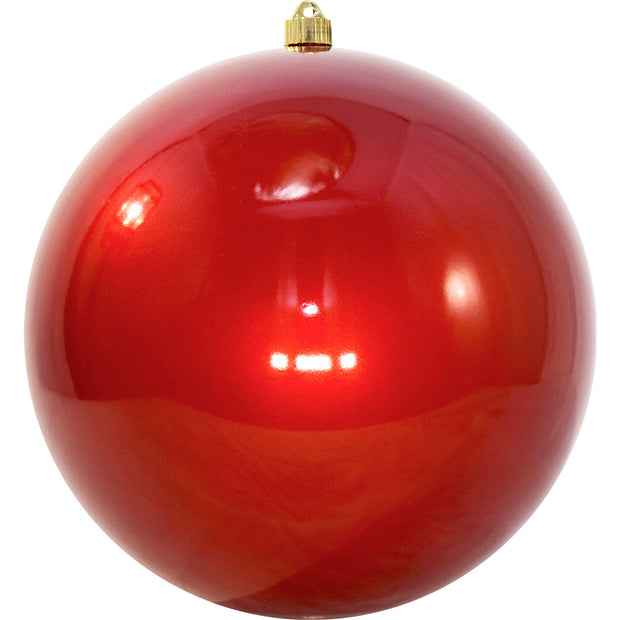"12"" (300mm) Giant Commercial Shatterproof Ball Ornament, Candy Red, Case, 2 Pieces - Christmas by Krebs Wholesale"