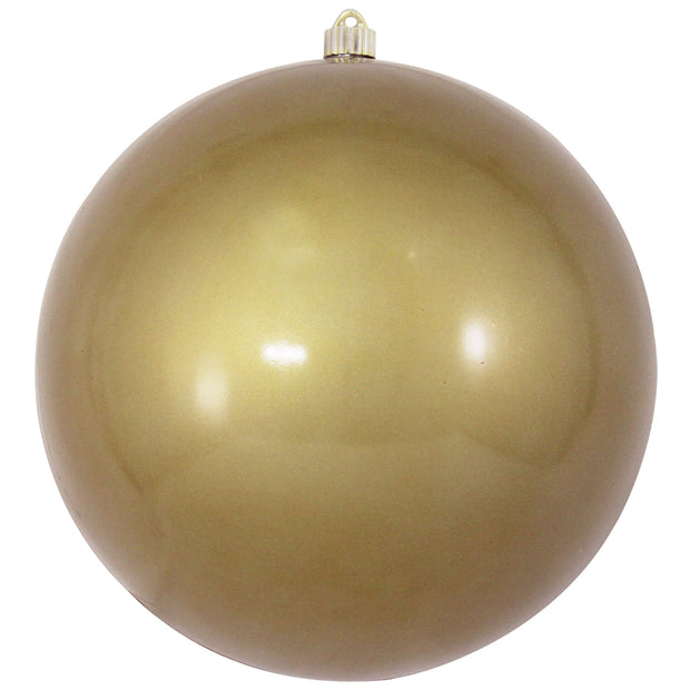 "12"" (300mm) Giant Commercial Shatterproof Ball Ornament, Candy Gold, Case, 2 Pieces"