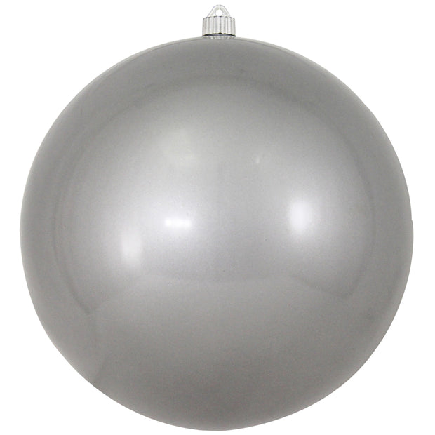 "12"" (300mm) Giant Commercial Shatterproof Ball Ornament, Candy Silver, Case, 2 Pieces"