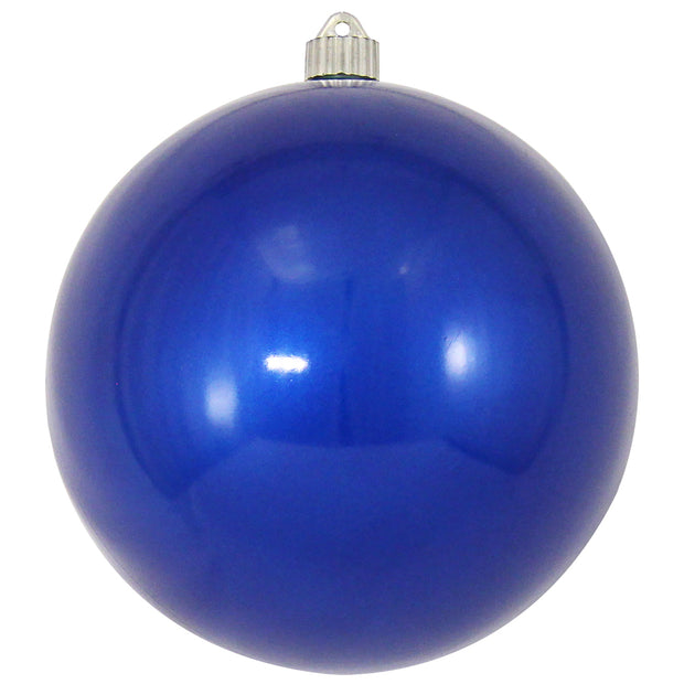 "8"" (200mm) Giant Commercial Shatterproof Ball Ornament, Candy Blue, Case, 6 Pieces - Christmas by Krebs Wholesale"