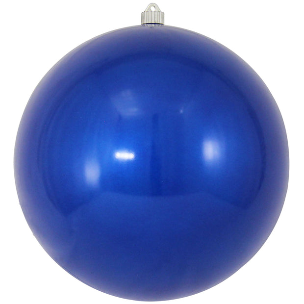 "12"" (300mm) Giant Commercial Shatterproof Ball Ornament, Candy Blue, Case, 2 Pieces"