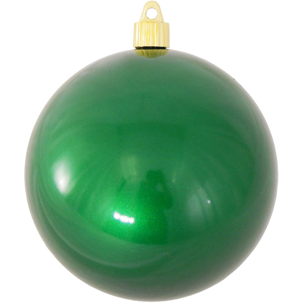"4 3/4"" (120mm) Jumbo Commercial Shatterproof Ball Ornament, Candy Green, Case, 36 Pieces - Christmas by Krebs Wholesale"