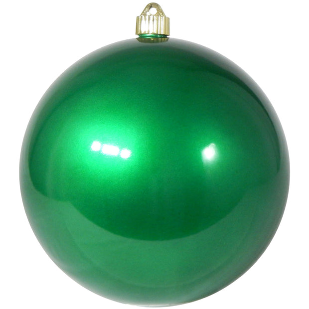 "8"" (200mm) Giant Commercial Shatterproof Ball Ornament, Candy Green, Case, 6 Pieces - Christmas by Krebs Wholesale"
