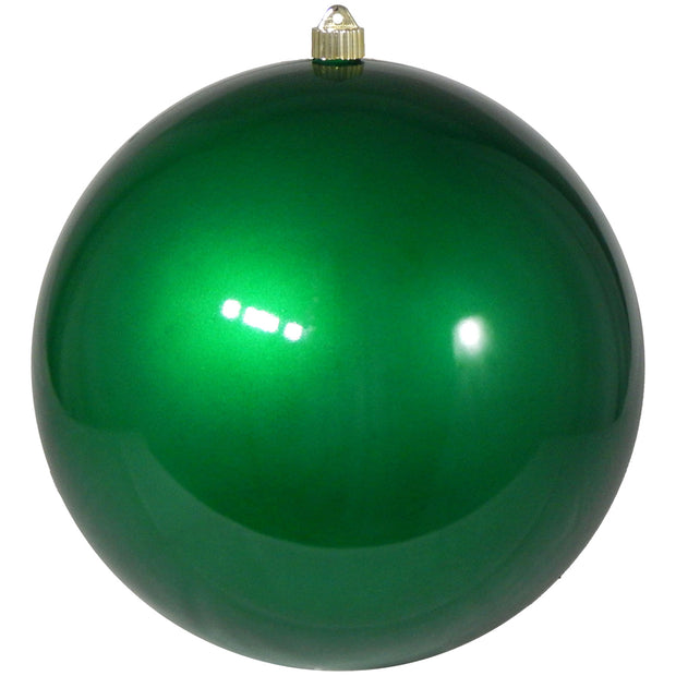 "12"" (300mm) Giant Commercial Shatterproof Ball Ornament, Candy Green, Case, 2 Pieces"