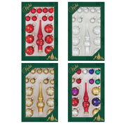 "4 3/4"" (120mm) 4 x Assorted Mini Trimsets, Tree Topper, Multi, 16/Box, 24/Case, 384 Pieces"