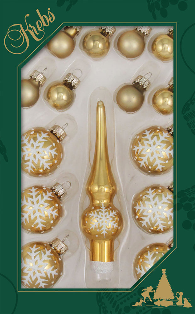 "4 3/4"" (120mm) 4 x Assorted Mini Trimsets, Tree Topper, Multi, 16/Box, 24/Case, 384 Pieces - Christmas by Krebs Wholesale"