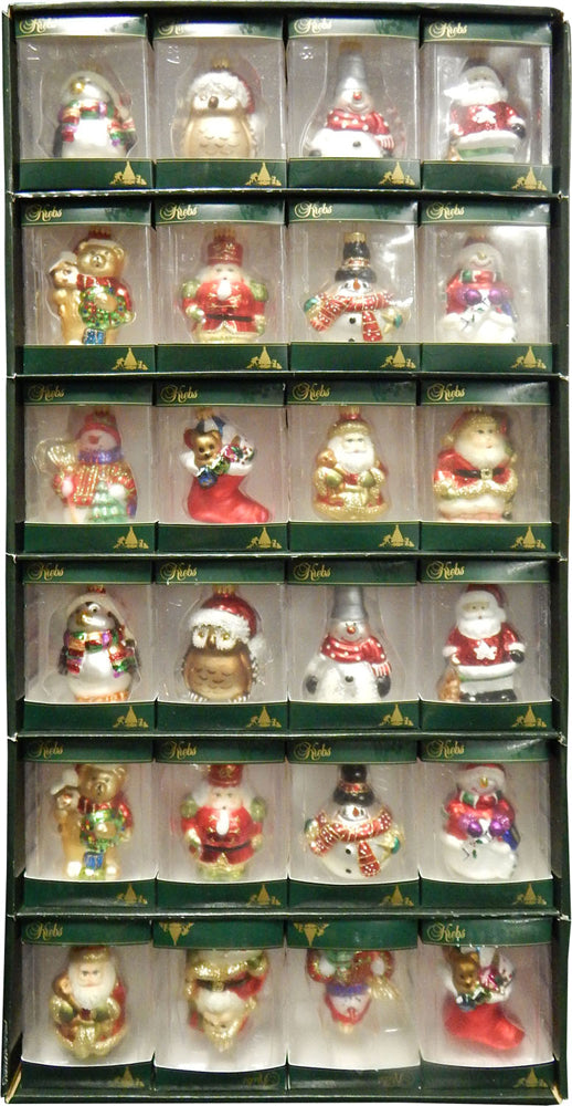 "3 1/2"" (89mm) 48 Box Assorted Display Figurine Ornaments, 1/Box, 48/Case, 48 Pieces"