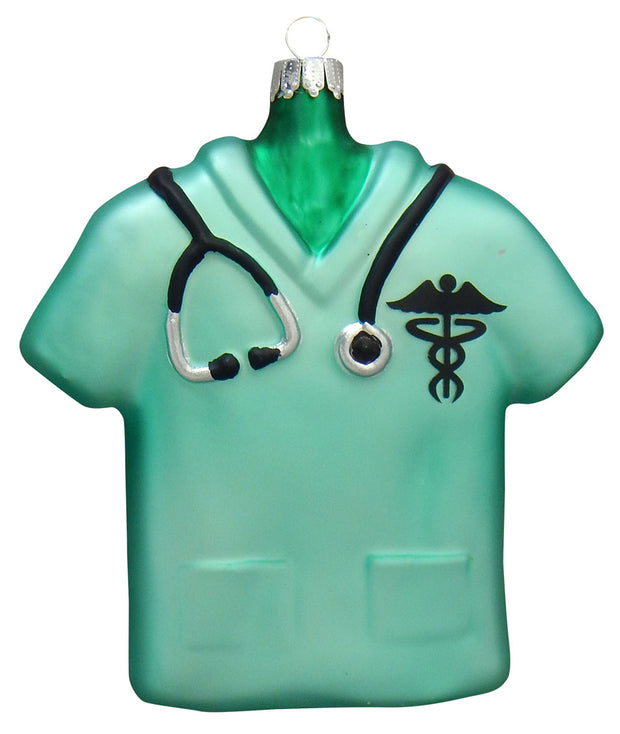 Nurse Scrub Top Figurine Ornaments, 1/Box, 6/Case, 6 Pieces