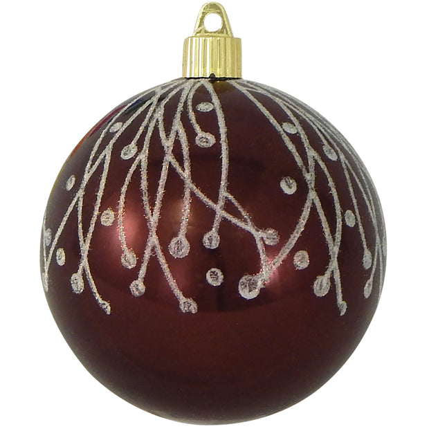 "4"" (100mm) Large Commercial Shatterproof Ball Ornament, Hot Java, Case, 24 Pieces"