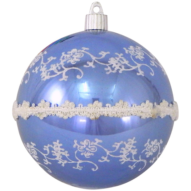 "4 3/4"" (120mm) Jumbo Commercial Shatterproof Ball Ornament, Polar Blue, Case, 24 Pieces"