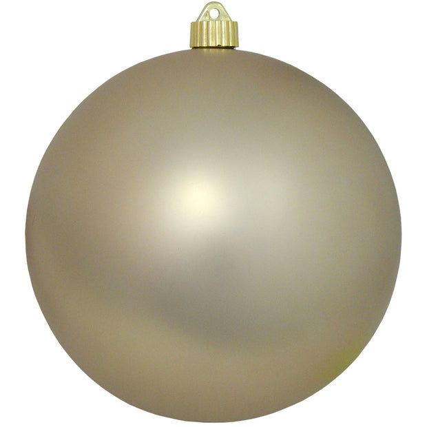 "8"" (200mm) Giant Commercial Shatterproof Ball Ornament, Buff Velvet, Case, 6 Pieces"