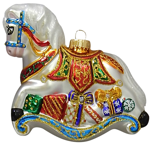 Elegant Rocking Horse Figurine Ornaments, 1/Box, 6/Case, 6 Pieces