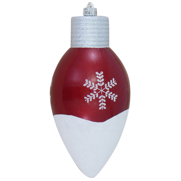 "12"" (300mm) Giant Commercial Shatterproof C9 Light Bulb Ornament, Candy Red, Case, 6 Pieces"