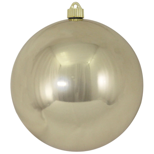 "8"" (200mm) Giant Commercial Shatterproof Ball Ornament, Champagne Shine, Case, 6 Pieces - Christmas by Krebs Wholesale"