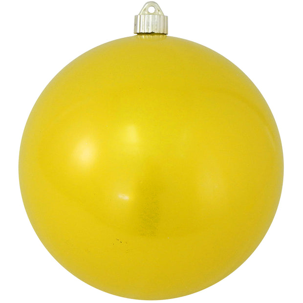 "8"" (200mm) Giant Commercial Shatterproof Ball Ornament, Sunshine Yellow, Case, 6 Pieces"