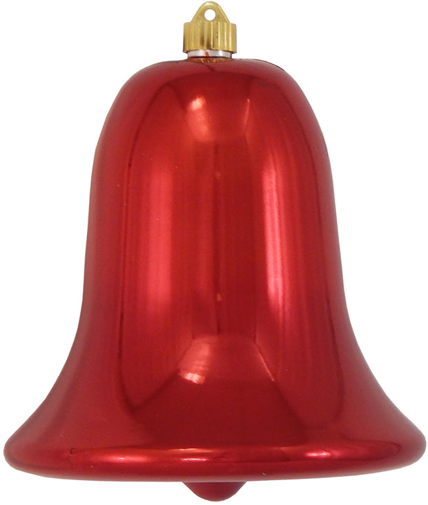 "9"" (229mm) Commercial Shatterproof Bell Ornaments, Sonic Red, 1/Box, 6/Case, 6 Pieces - Christmas by Krebs Wholesale"