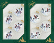 "2 5/8"" (67mm) Ball Ornaments, Snow Couple Sledding, Multi, 4/Box, 12/Case, 48 Pieces - Christmas by Krebs Wholesale"