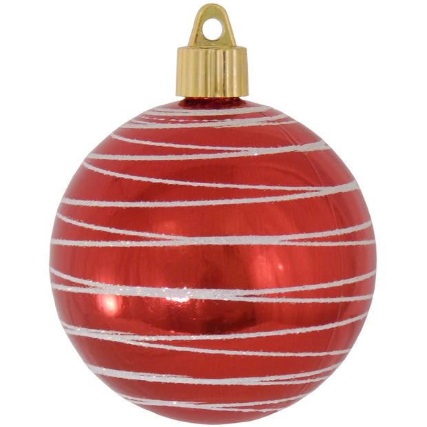 "3 1/4"" (80mm) Commercial Shatterproof Ball Ornament, True Love, Case, 36 Pieces - Christmas by Krebs Wholesale"
