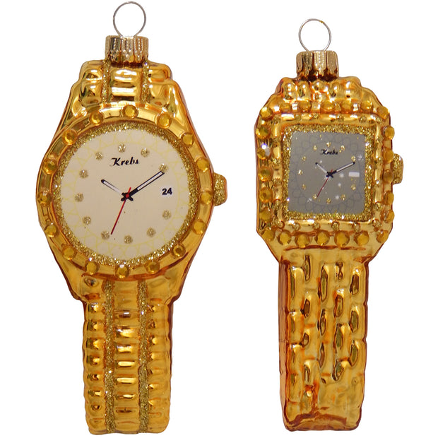 "2 5/8"" (67mm) Gold Mens and Ladies Wristwatch, Gold, 1/Box, 6/Case, 6 Pieces"