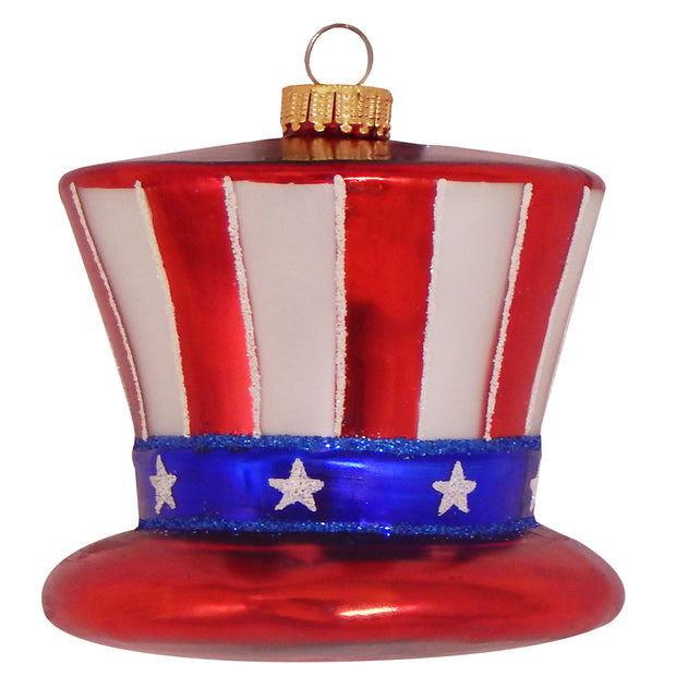 "4 1/4"" (108mm) Uncle Sam Hat Figurine Ornaments, 1/Box, 6/Case, 6 Pieces - Christmas by Krebs Wholesale"