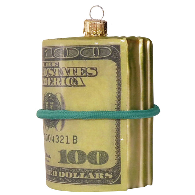 "4"" (100mm) Money Roll Figurine Ornaments, 1/Box, 6/Case, 6 Pieces - Christmas by Krebs Wholesale"