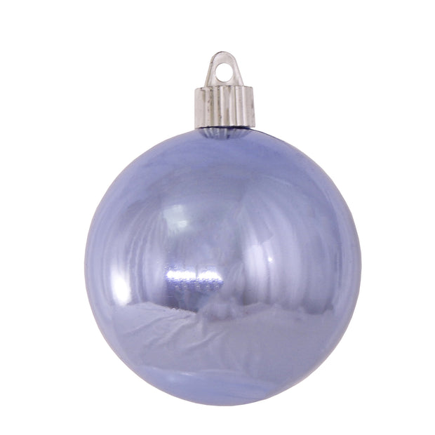 "3 1/4"" (80mm) Commercial Shatterproof Ball Ornament, Shiny Polar Blue, 8 Pieces per Bag. 10 Bags per Case, 80 Pieces per case. - Christmas by Krebs Wholesale"
