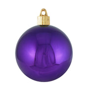 "3 1/4"" (80mm) Commercial Shatterproof Ball Ornament, Vivacious Purple, Case, 8 Pieces per Bag. 10 Bags per Case, 80 Pieces per case. - Christmas by Krebs Wholesale"